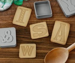 Letter Cookie Stamps And Cutters