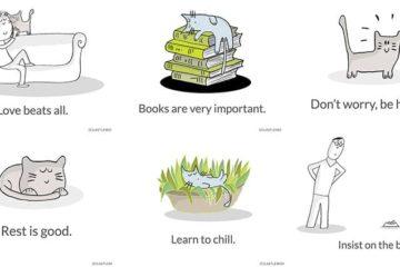 Life Lessons Cats Illustrations Last Lemon