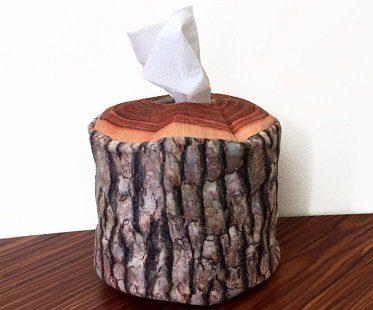 Log Tissue Box Cover
