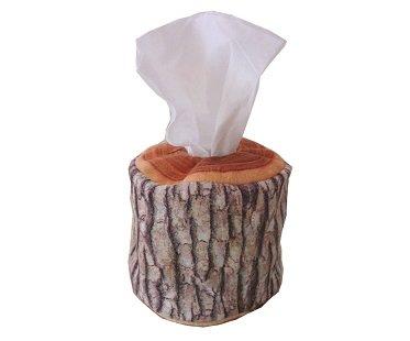 Log Tissue Box Cover wood