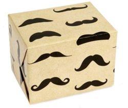 Mustache Gift Wrap Paper