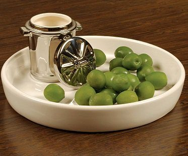Olive Plate And Mini Bin