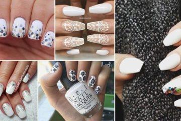 Pretty Nail Designs In White