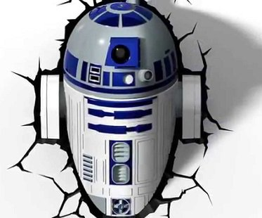 R2-D2 Night Light wall