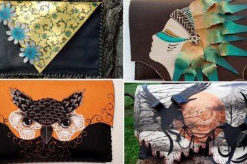 Roxana Nicolae Artist Collage Clutch Bags
