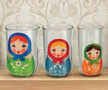 Russian Doll Nesting Glasses