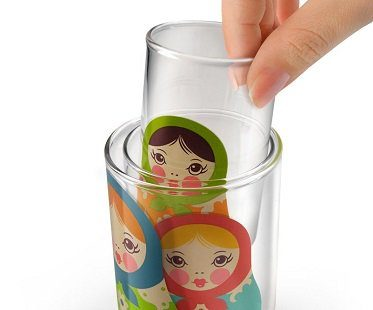 Russian Doll Nesting Glasses cups