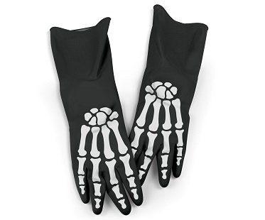 Skeleton Kitchen Gloves black