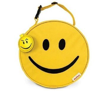 Smiley Face Lunch Bag yellow