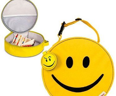 Smiley Face Lunch Bag yellow tote