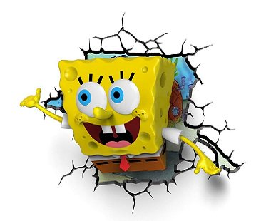 Spongebob Squarepants Night Light wall