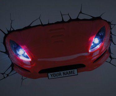 Sports Car Night Light