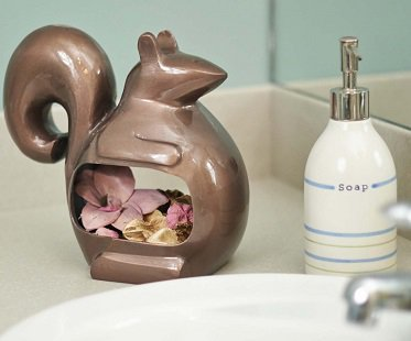 Squirrel Bird Feeder bathroom
