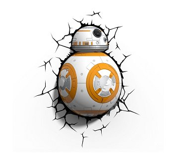 Star Wars BB-8 Night Light wall