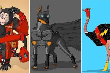 Suraj Sirohi Animals Superheroes Art