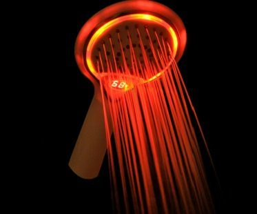 Temperature Display Shower Head colour