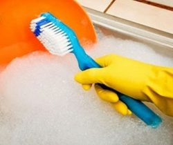 Toothbrush Dish Scrubber