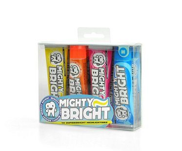 Toothpaste Shaped Highlighters box