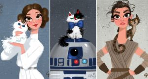 Walt Disney Star Wars Characters Cats