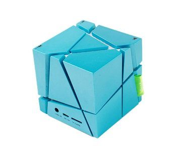 Wireless Cube Speaker blue