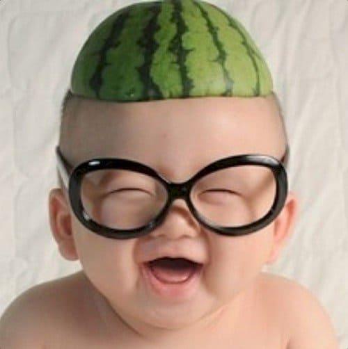 baby glasses melon head