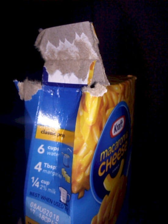 badly opened package