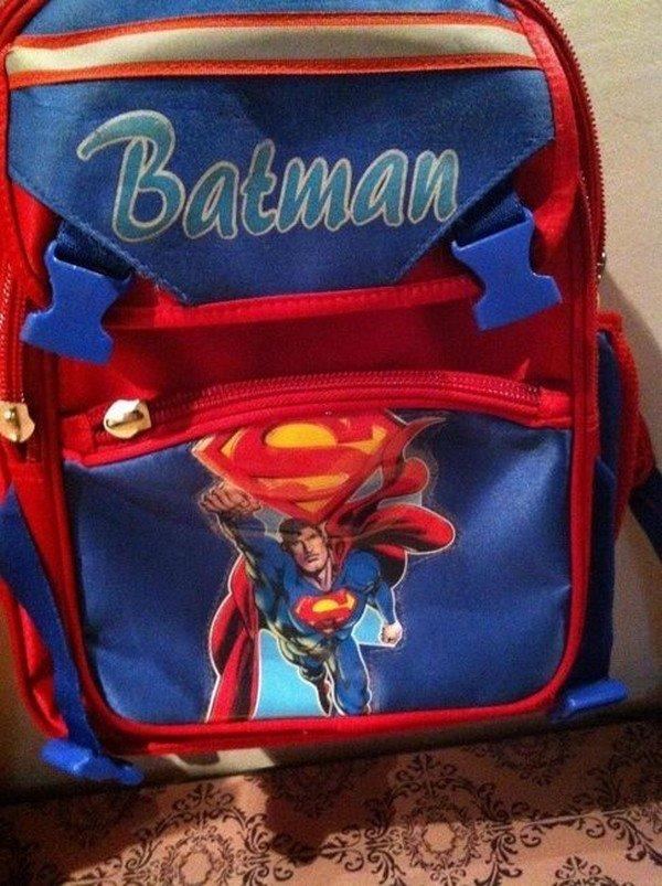 batman superman bag