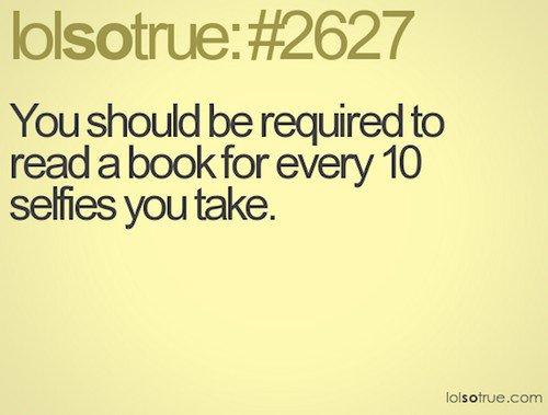 book selfie truth