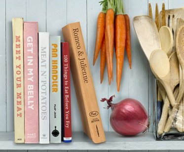 book-shaped cutting board