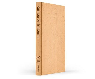 book-shaped cutting board chopping