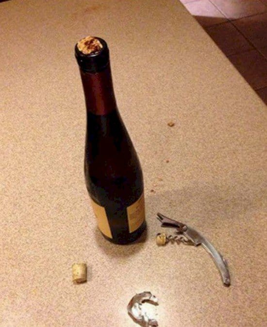 broken top wine bottle
