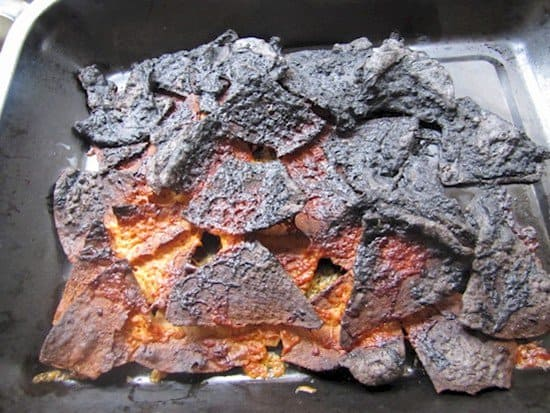 burnt nachos