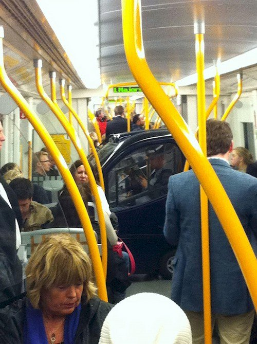 car on subway