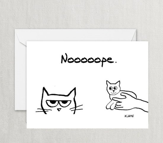 cards-for-cat-lovers-nope