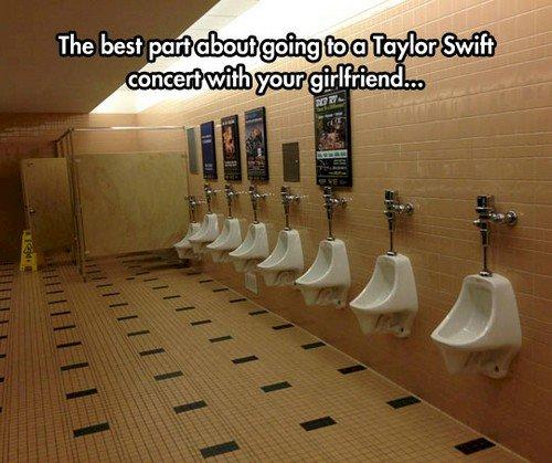 concert urinals
