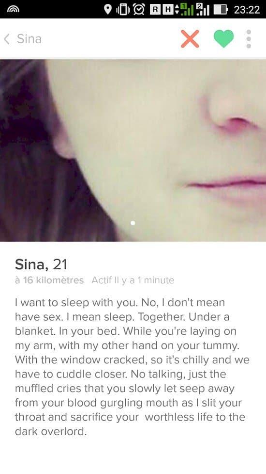 crazy tinder profile