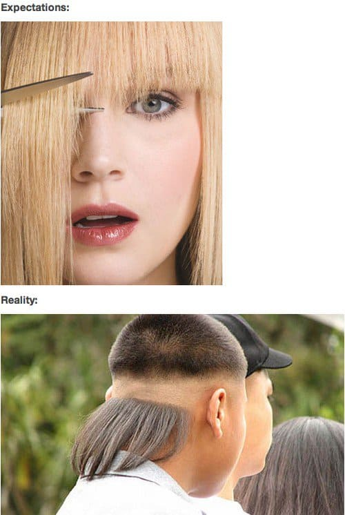 cutting hair expectations reality