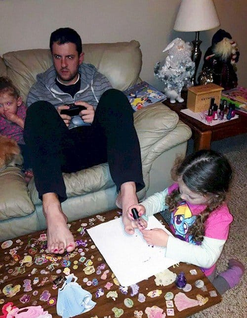 dad kids pedicure