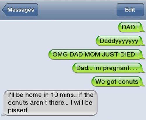 donuts dad text