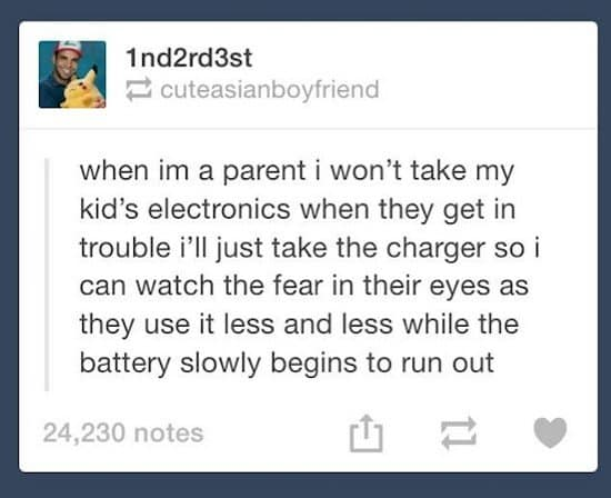 electronics charger post