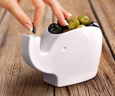elephant snack bowl