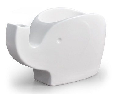 elephant snack bowl white