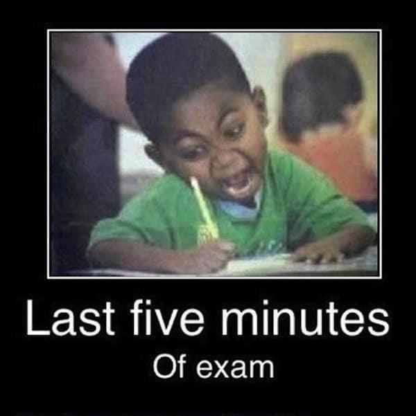 exams-five-minutes