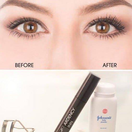 eyes lashes powder
