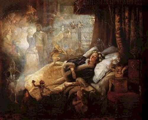 fairies demons woman sleeping