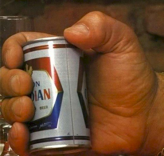 giant hand beer can