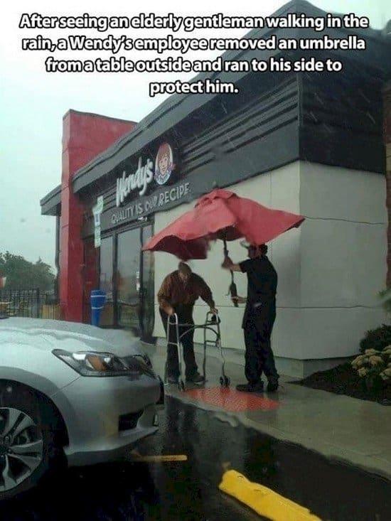 guy man umbrella