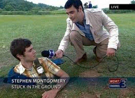 guy stuck ground