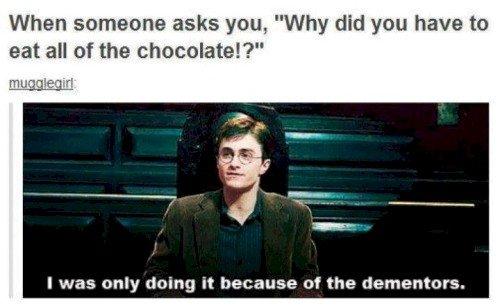 harry chocolate dementors