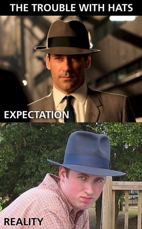 hats expectation reality